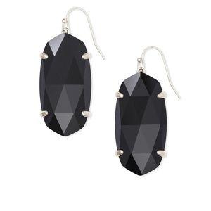 Kendra Scott Esme silver drop earrings in black